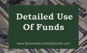 detailed use of funds, business, loans, finance, venture capital