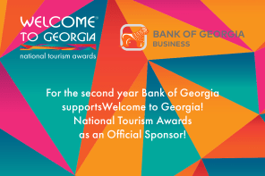 For the second year Bank of Georgia supports Welcome to Georgia! National Tourism Awards as an Official Sponsor!