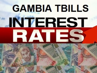 Gambia treasury bills rates. Current and historical rates