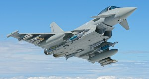 Eurofighter Typhoon BS117 with full P3E weapons fit.
