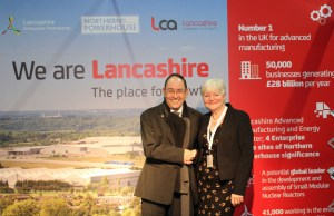 Left, Sir Howard Bernstein, Chief Executive of Manchester City Council. Right, Jenny Mein, Leader of Lancashire County Council and Lancashire LEP board member