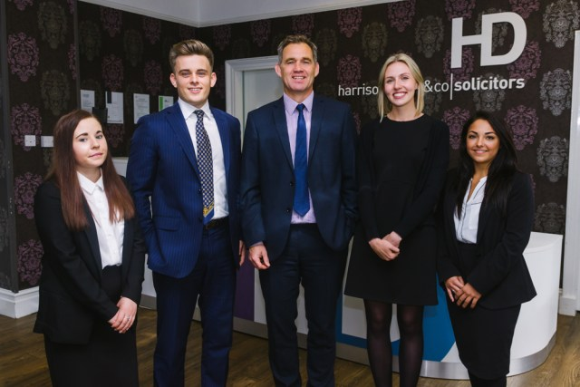 Harrison Drury's new trainees and executive chairman, John Chesworth