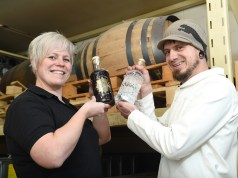 Claire and Ollie of Batchbrew distillery