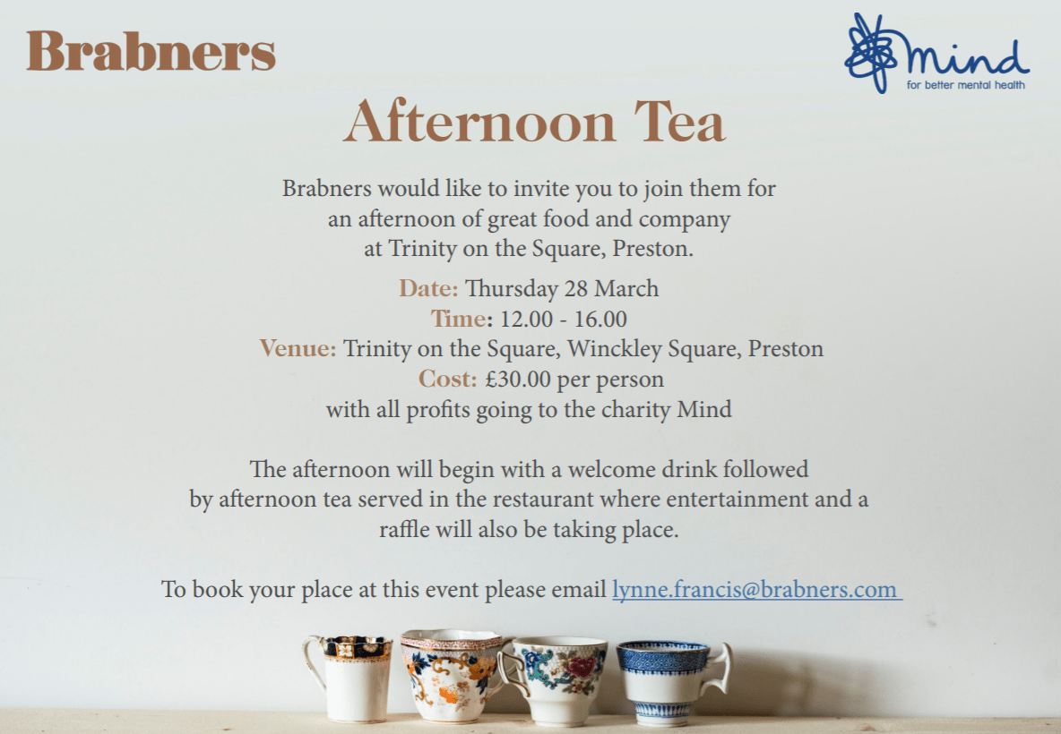 Charity Afternoon Tea Business Invitation Business Lancashire