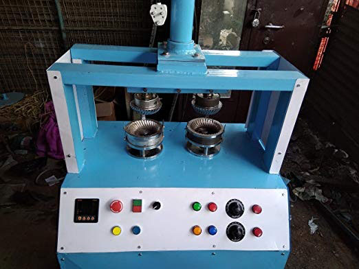 Double Die Deluxe Paper Plate Making Machine