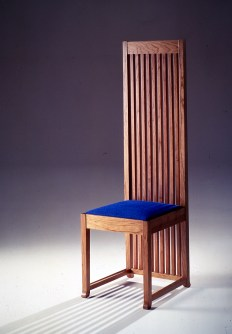 Barrel Taliesin chair in extra-large version, designed by Franck Lloyd Wright, Cassina Collection