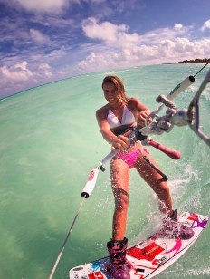 Kiteboarder Charlotte Consorti
