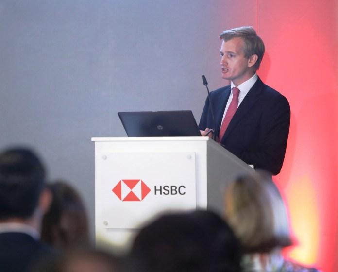 HSBC Malta CEO Andrew Beane announces the H1 results in the Malta Chamber of Commerce. (source: HSBC Malta media)