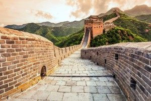 Greatwall the landmark of china and  beijing. Credit: Zhengbeilou