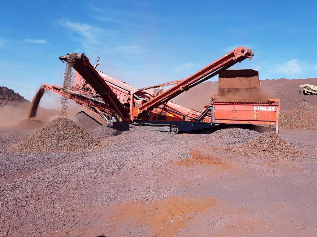 Image: Mobile crusher at Demaneng site