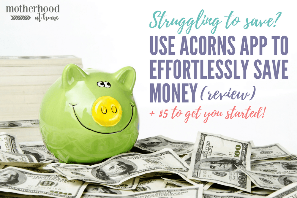 Acorns review, saving money, easily save money, save money, savings