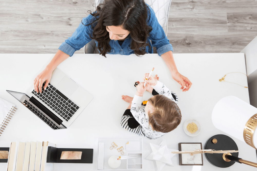 work from home mom daily schedule; side hustle; productivity