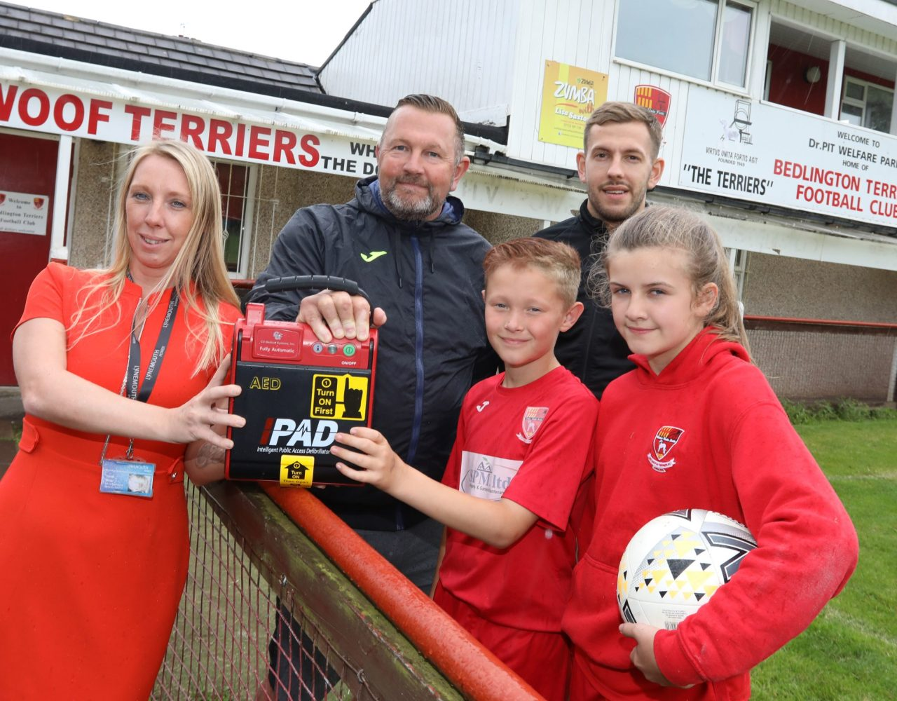 Lynemouth Power Station supports football club with donation