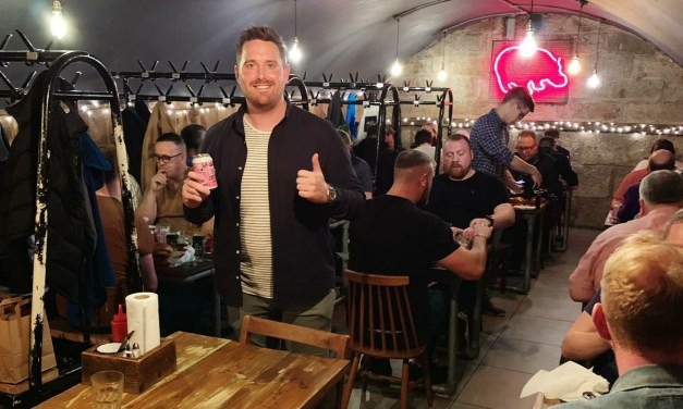 James is celebrating after beer and burger collaboration launch