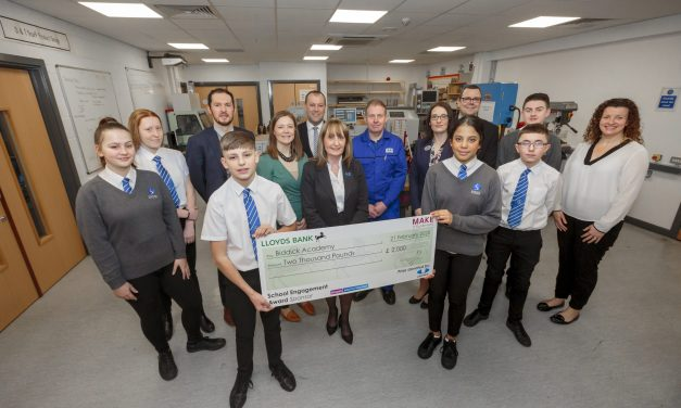 Automotive manufacturer donates £2,000 to school's engineering department