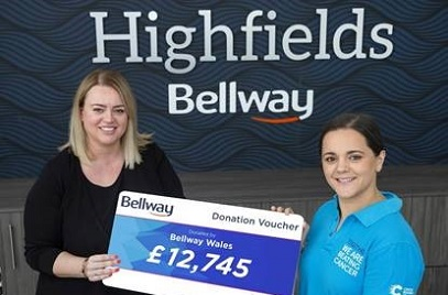 Welsh Housebuilder Raises More than £12,000 for Cancer Charity