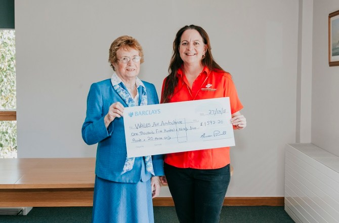 Chairman's Funding Provides Boost for Two Welsh Charities
