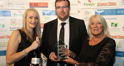 Caravan Parks Business Delighted to Win Powys Growth Award