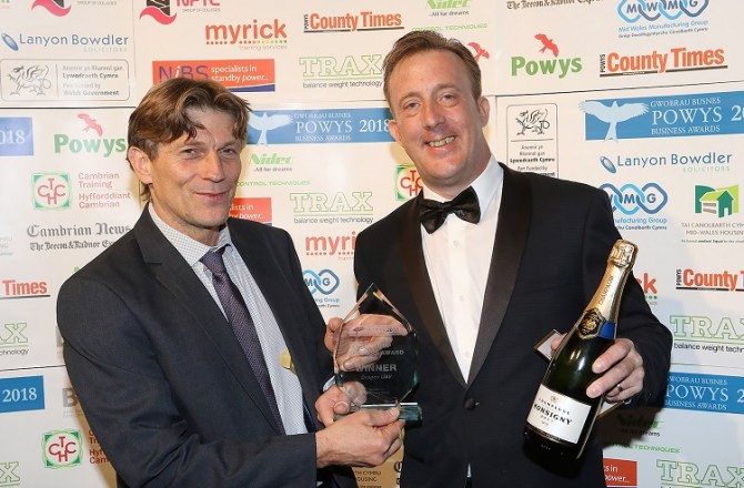Mid Wales Aerial Drone Firm Wins Regional Start-Up Business Award