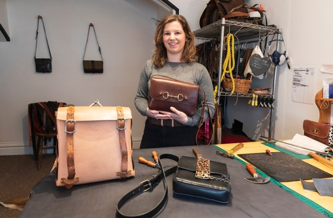 Mid Wales Entrepreneur Goes Hell for Leather with Handmade Bag Business
