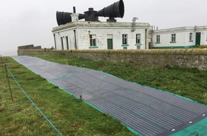 Roll-up Solar Panels Power Holm Island