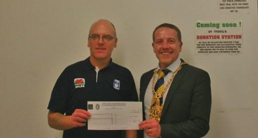 Mayor Donates £3,000 to Help Merthyr's Homeless