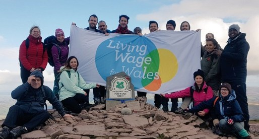 Staff from Living Wage Employers in Wales End Living Wage Week on a High