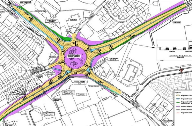 A468/A469 Pwll-Y- Pant Roundabout Improvment