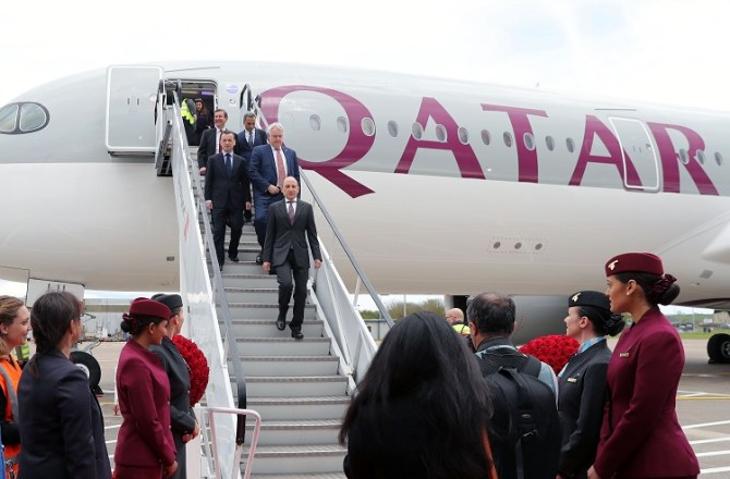 Qatar Airways has Landed at Cardiff Airport