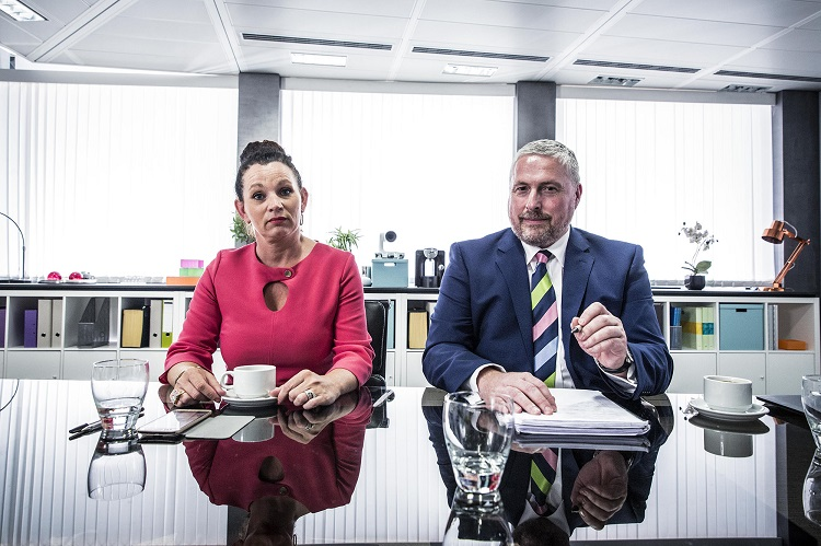 Rod Lloyd CEO and Lorraine Kitchen HR manager of Low Cost Vans photo byline Ryan Mcnamara