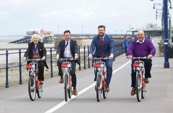 Swansea University Launches Sixth Santander Cycles Hub in Mumbles