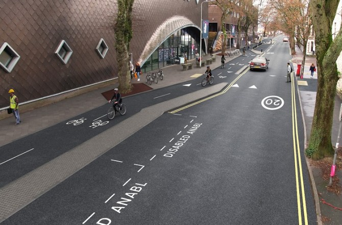 First 'Cycleway' to be Built in Cardiff