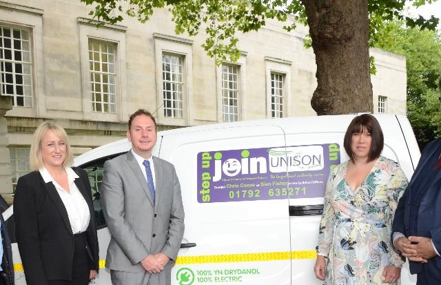 Unison Backs Swansea's Electric Vehicle Fleet Initiative