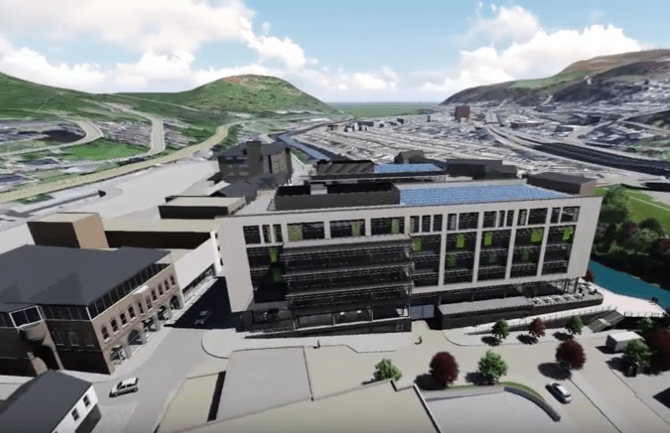 RCT Council Demonstrate Taff Vale Redevelopment with Video Fly-Through