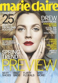 Drew Barrymore on Marie Claire