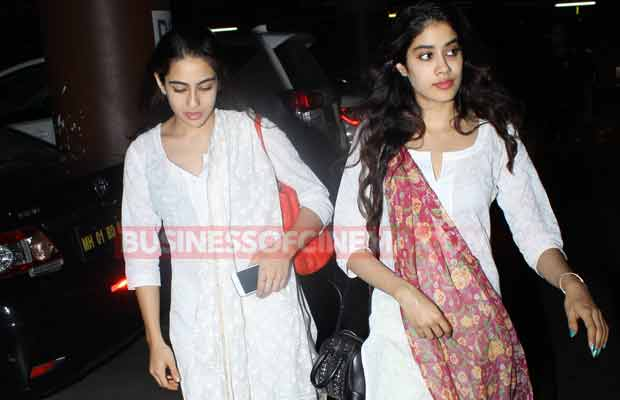 BFFs Jhanvi Kapoor And Sara Ali Khan Spotted Twinning In White- Who Wore Indian Wear Better?