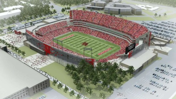 Rendering of TDECU Stadium at University of Houston (photo credit: University of Houston)
