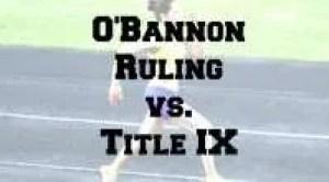 O'Bannon vs. Title IX