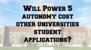 Power 5 Autonomy and Student Apps