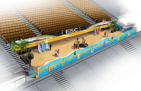 Rendering of UCF's new East Side Club