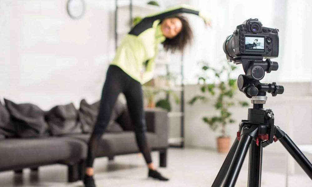 student athlete video blogger
