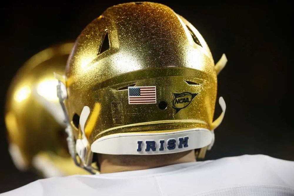 Notre Dame football helmet