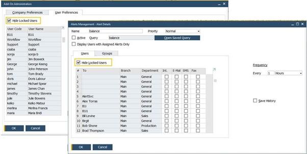User Management SAP Business One