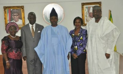 Amosun Swears-in Commissioner, Chief of Staff, HoS