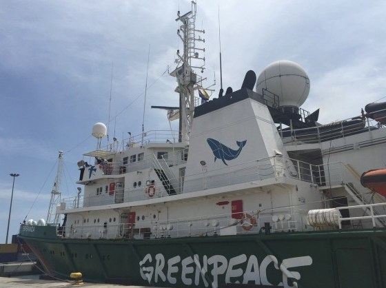 Greenpeace Ship, My Esperanza, Sails into West Africa Waters