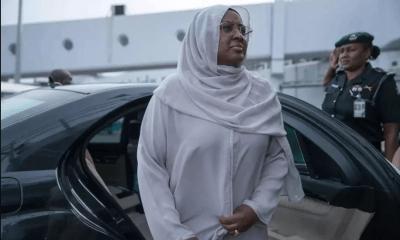 Aisha Buhari in London to See Hubby