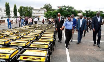 Lagos Gives 120 5KVA Generating Sets to Police Formations