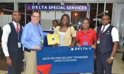 Delta Rewards 1-Millionth Passenger on Lagos-Atlanta Flight