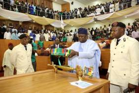 Image result for Ambode presents budget of N852.3bn for 2019