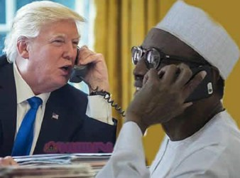 trump speaks to buhari